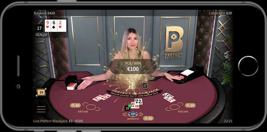 Live Mobile Casino blackjack
