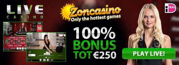 zoncasino live blackjack bonus