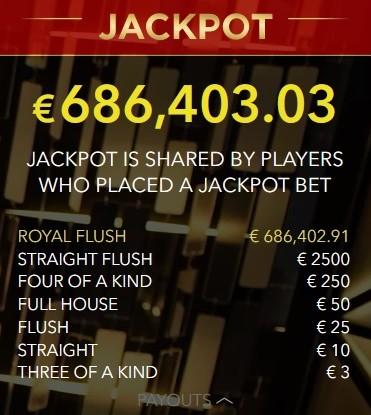 Jackpot Stud Poker
