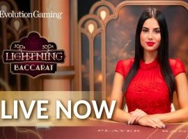 Live Lightning Baccarat Evolution Gaming