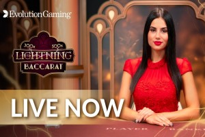 Live Lightning Baccarat Evolution Gaming