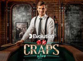 Live Craps dobbelspel Evolution