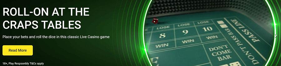 Live Craps Evolution Casino