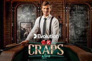 Live Craps dobbelspel Evolution